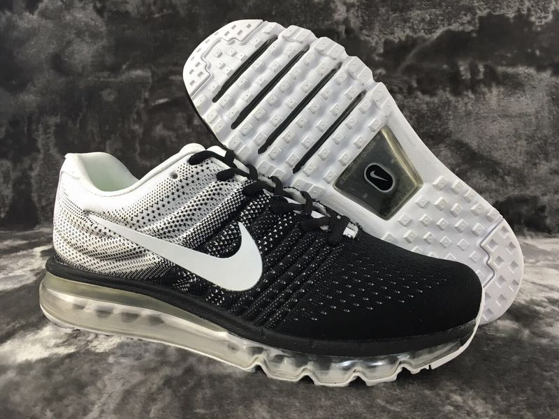 Air Max FREE SHIPPING Cheap Nike Flyknit Air Max 2017 White Black