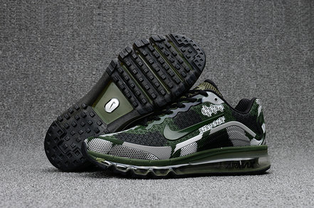 Air Max FREE SHIPPING Cheap Nike Mens Air Max 2017 Camouflage Army Green Grey Black