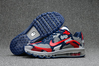 Air Max FREE SHIPPING Cheap Nike Mens Air Max 2017 Camouflage Red Grey Blue
