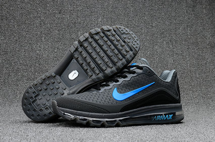 Air Max FREE SHIPPING Cheap Nike Mens Air Max 2017 Grey Blue Black