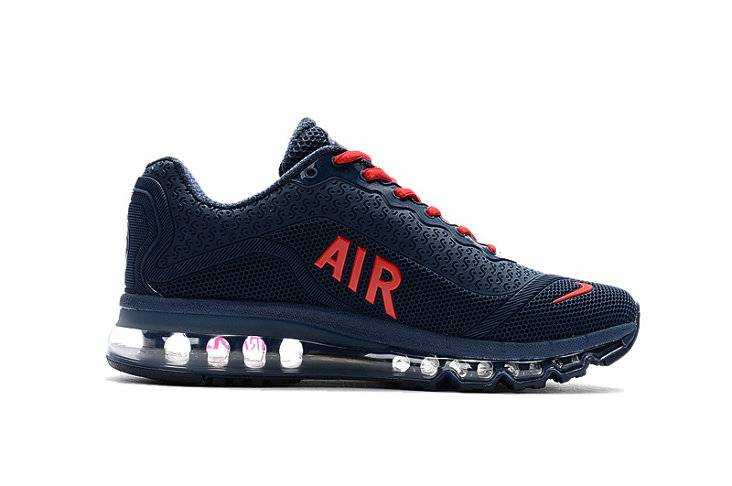 Air Max FREE SHIPPING Cheap Nike Mens Air Max 2017 Navy Blue Red