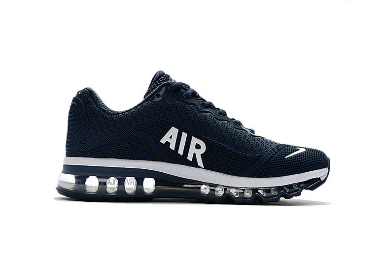 Air Max FREE SHIPPING Cheap Nike Mens Air Max 2017 White Navy Blue