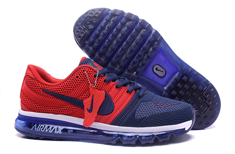 Air Max FREE SHIPPING Cheap Nike Sportwear Air Max 2017 Mens Navy Blue Red