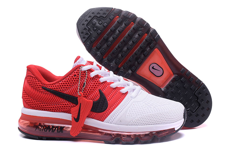 Air Max FREE SHIPPING Cheap Nike Sportwear Air Max 2017 Mens Red White Black