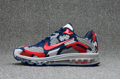Air Max FREE SHIPPING Cheap Nike WMNS Air Max 2017 CamouFlage Red Blue Grey